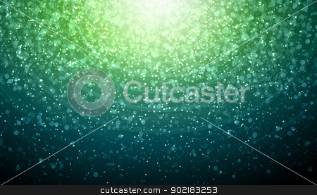 Green abstract light background stock photo, Green colour bokeh abstract light background. Illustration by Sergey Nivens