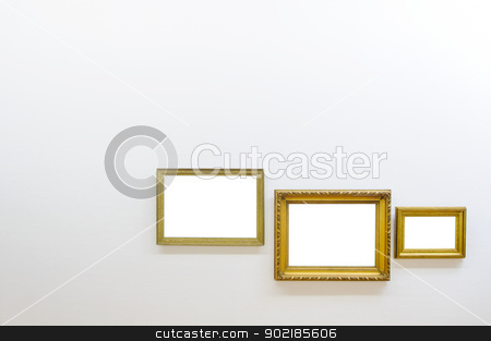 Empty frames in art gallery room stock photo, Empty frames in art gallery room by Alessandro Rizzolli