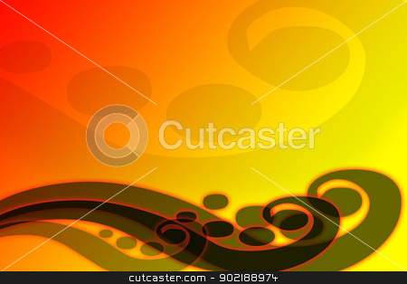 Red orange abstract waves stock photo, Red and orange abstract waves forms a sweet and smooth background. They recall musical symbols by Dario Rota