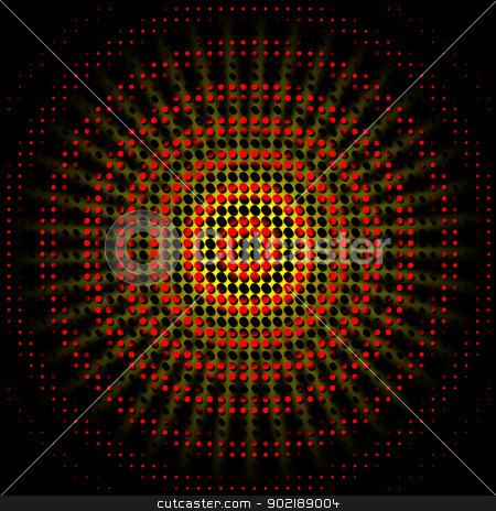 Abstract dots circles stock photo, Abstract circles background with dots fantasy by Dario Rota