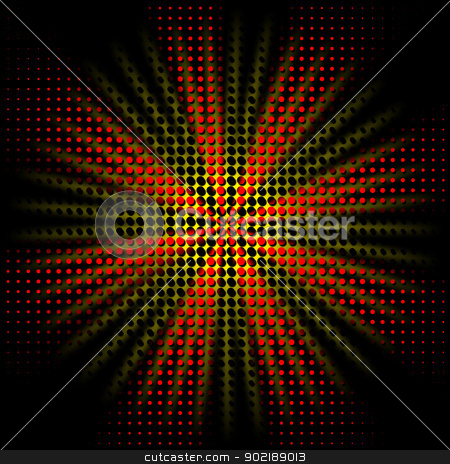 Abstract rays stock photo, Abstract rays background with dots fantasy by Dario Rota