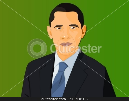 Obama  stock photo, Flash Trace by Mohan
