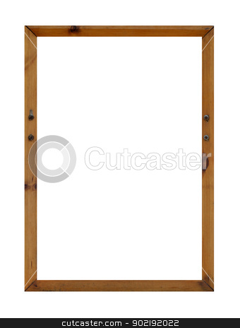 Blank wooden frame with copy space stock photo, Blank wooden frame with copy space isolated on white background. by Martin Crowdy