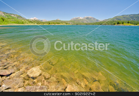 Lake Electra in the San Juan Mountains in Colorado stock photo, Lake Electra in the San Juan Mountains in Colorado by Robert
