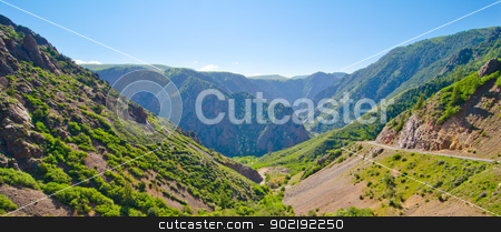 A Mountain Valley in the Foothills of the San Juan Mountains of Colorado stock photo, A Mountain Valley in the Foothills of the San Juan Mountains of Colorado by Robert