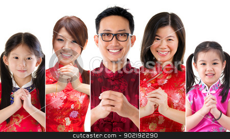 Chinese new year people stock photo, Collage of Chinese new year concept by szefei