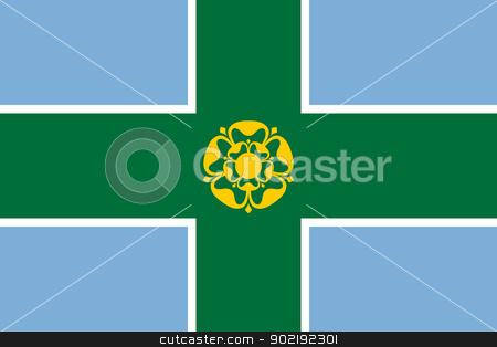 Derbyshire County flag stock photo, Illustration of Derbyshire County flag, United Kingdom. by Martin Crowdy