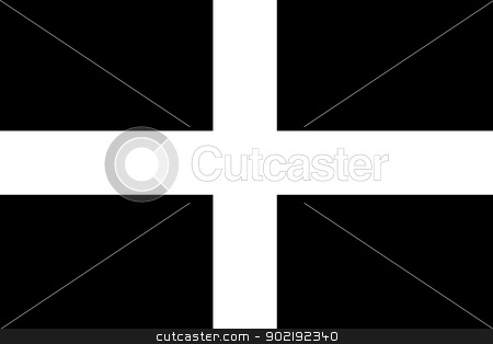 Flag of Cornwall stock photo, Flag of the English county of Cornwall by Martin Crowdy