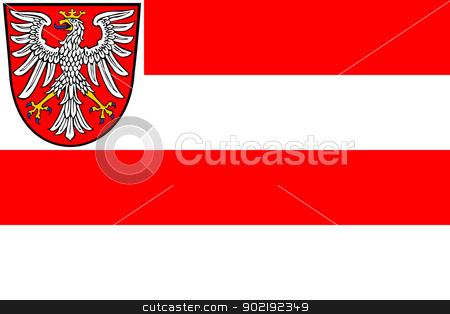 Frankfurt city flag stock photo, Illustration of Frankfurt city flag, Germany by Martin Crowdy