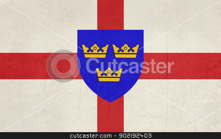 Flag of East Anglia stock photo, Official flag of the English county of East Anglia by Martin Crowdy