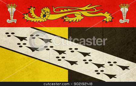 Norfolk County flag stock photo, Gruge illustration of Norfolk County flag, United Kingdom. by Martin Crowdy