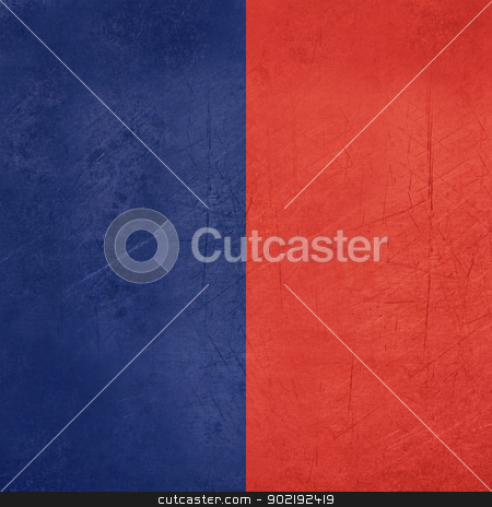 Paris city flag stock photo, Grunge illustration of Paris city flag, France. by Martin Crowdy