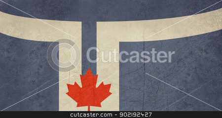 Grunge Toronto city flag stock photo, Grunge Toronto city flag is official colors, Canada. by Martin Crowdy