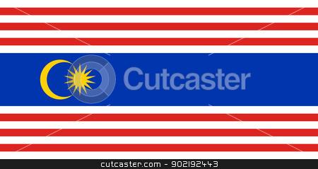 Kuala Lumpar city flag stock photo, Illustration of Kuala Lumpar city flag, Indonesia. by Martin Crowdy