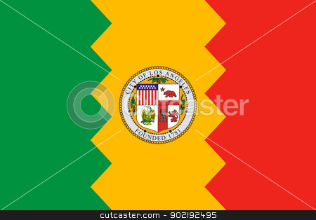 Los Angeles city flag stock photo, Illustration of Los Anglese city flag, California, U.S.A. by Martin Crowdy