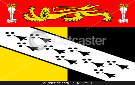 Norfolk County flag stock photo, Illustration of Norfolk County flag, United Kingdom. by Martin Crowdy
