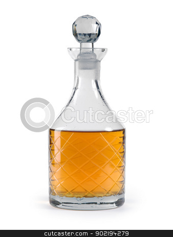 Whisky decanter stock photo, Photo of a isolated whisky decanter. Clipping path included. by © Ron Sumners