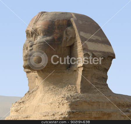Giza Necropolis stock photo, the Sphinx at Giza Necropolis in Egypt by prill