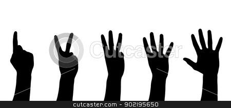 hands  stock photo, hands isolated on a white  by Vitaliy Pakhnyushchyy