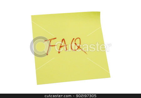 Yellow memo paper stock photo, Yellow memo paper isolated on white background by Ingvar Bjork