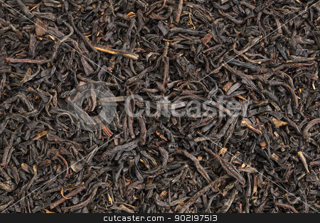 English breakfast black tea stock photo, background texture of  loos leaf English breakfast (Assam) black tea from India by Marek Uliasz