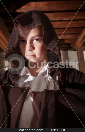 Magician with Folded Arms stock photo, Young magician with folded arms hidden in his cloak by Scott Griessel