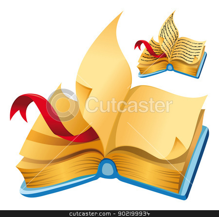 Book. stock vector clipart, Book. Cartoon and vector isolated objects. by ddraw