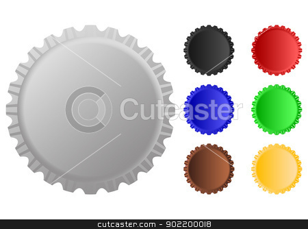 Cap with different color stock vector clipart, Layered vector illustration of Cap with different color. by Liu Yin