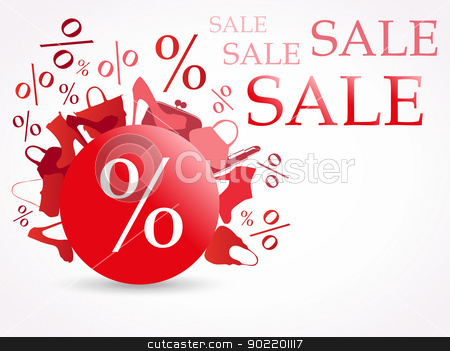 Sale stock vector clipart, Sale illustration. by andilevkin