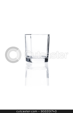 Coctail glass set. Vodka shot on white stock photo, Empty vodka shot isolated on white background by Alexander Tarasov