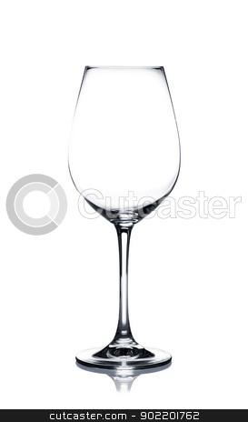Coctail glass set. White wine on white stock photo, Empty white wine glass isolated on white background by Alexander Tarasov