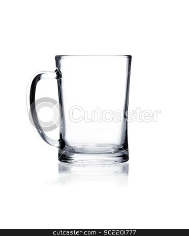 Coctail glass set. Beer mug on white stock photo, Empty beer mug isolated on white background by Alexander Tarasov