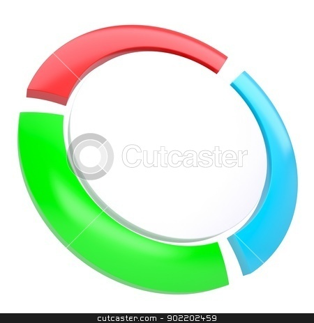 Multicolored abstract disk stock photo, Multicolored abstract disk. Isolated render on a white background by cherezoff