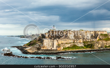 El Morro Spanish Fortress, San Juan stock photo, El Morro Fortress  in Old San Juan, Puerto Rico by Gary Ives