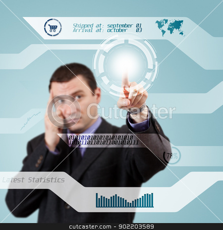 Digital concept stock photo, Modern buttons on a virtual background  by Grafvision