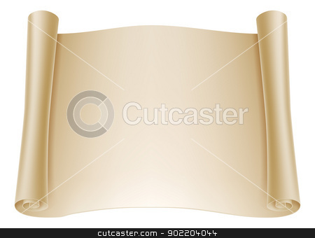 Paper Scroll Background stock vector clipart, Background illustration of an old rolled up paper scroll  by Christos Georghiou