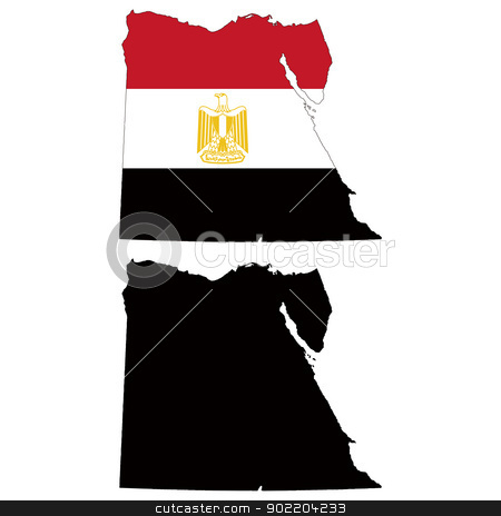 Egypt stock vector clipart, Vector illustration map and flag of Egypt. by Liu Yin