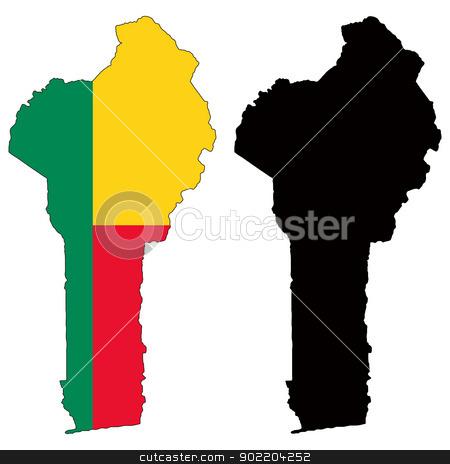Benin stock vector clipart, Vector illustration map and flag of Benin. by Liu Yin