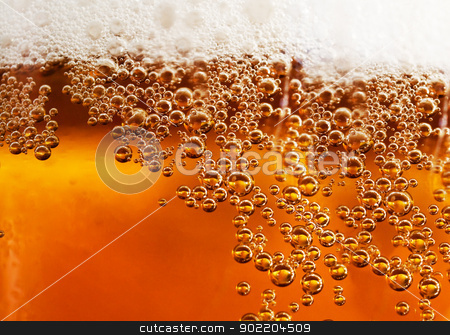 beer detail stock photo, Abstract background beverage and bubbles by carloscastilla