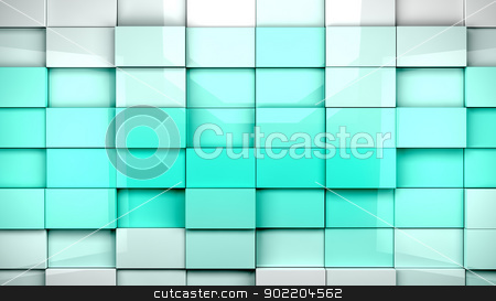 cubes background  stock photo, Abstract cubes background in blue toned by carloscastilla