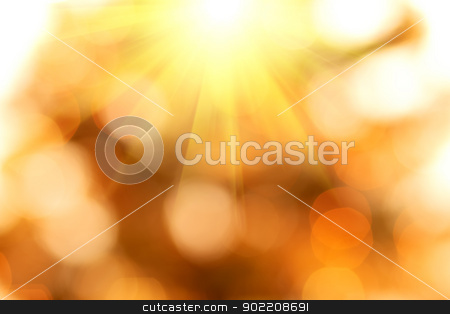 natural bokeh background with sun stock photo, natural bokeh with sun for background or backdrop by Artush