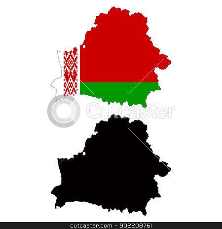 Belarus stock vector clipart, Vector illustration map and flag of Belarus. by Liu Yin