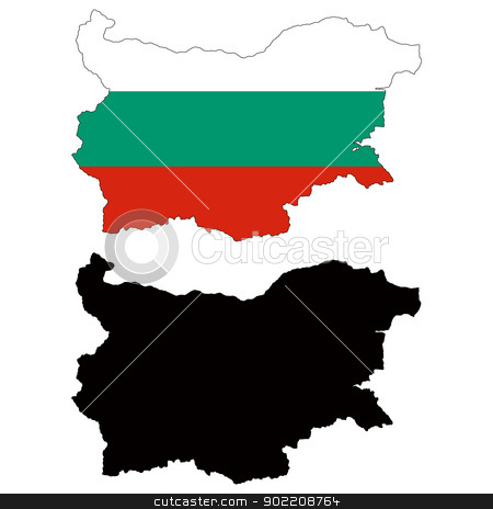 Bulgaria stock vector clipart, Vector illustration map and flag of Bulgaria. by Liu Yin