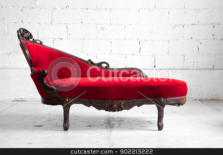 Modern red sofa stock photo, modern red sofa contemporary style in vintage room by Vichaya Kiatying-Angsulee