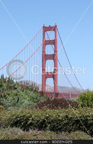 San Francisco Golden Gate stock photo, View of the Golden Gate bridge in San Francisco, California. by Henrik Lehnerer