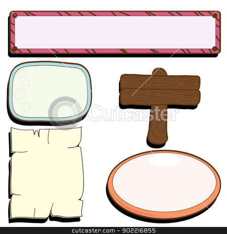 frames background stock vector clipart, five frames as photo frames and others by glossygirl21