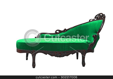 luxury Green sofa stock photo, vintage luxury Green sofa isolated on white background by Vichaya Kiatying-Angsulee