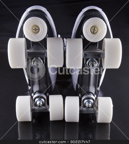 Roller Skates stock photo, Pair of roller skates seen from below by Fabio Alcini