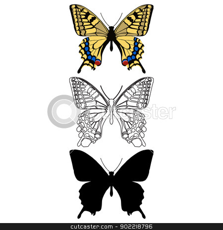 Butterfly stock vector clipart, Layered vector illustration of Butterfly. by Liu Yin