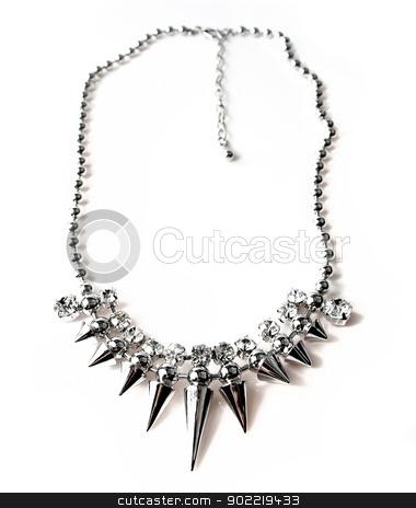 necklace jewellery stock photo, necklace jewellery isolated on white background by Desislava Dimitrova